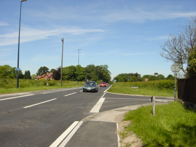 The Welsh Road (A550) at Childer Thornton