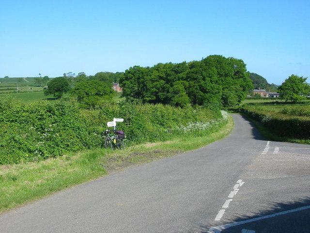 Road Junction at Gun Hills