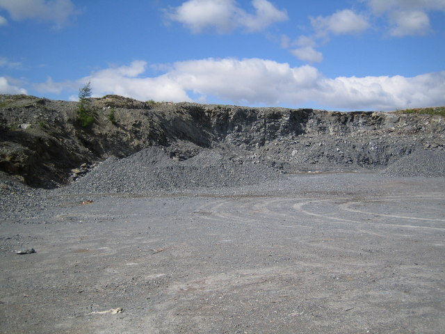 Quarry in the forest to provide roadstone for forestry roads