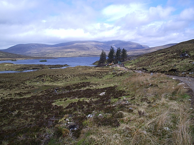Looking back towards Loch Fiag