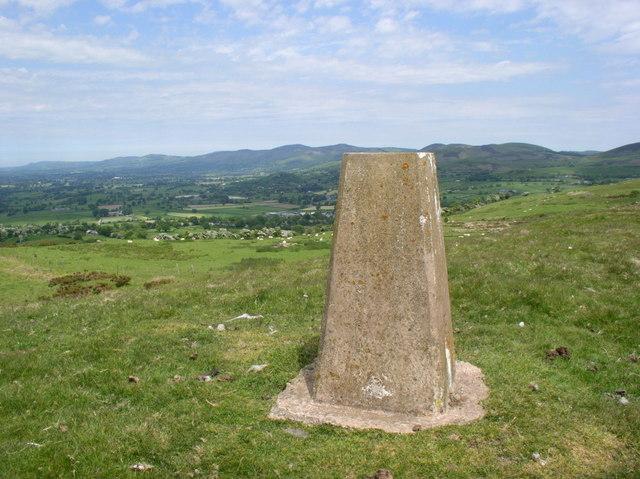 Trig Point on Mynydd Cricor