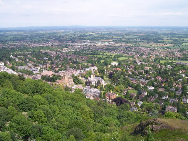 Great Malvern from the Hills