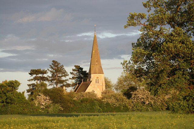 All Saints' church at dusk