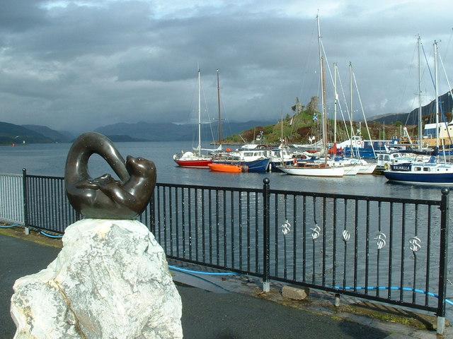 Caol Acain Harbour and Caisteal Maol