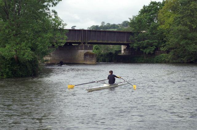 River Avon, Kelston Park Railway Bridge