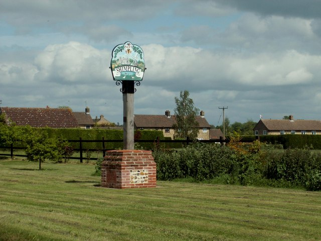 Shimpling village sign, Suffolk