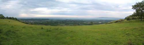Panoramic view from Colley Hill near Reigate