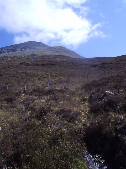 Upslope to the summit of Sgurr Mhairi