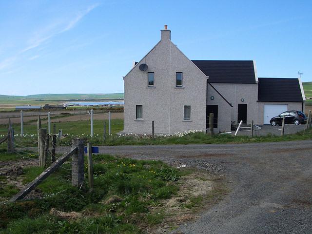 House overlooking Loch of Sabiston
