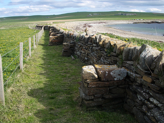 Buttressed wall at Marwick