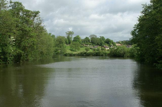 River Avon below Saltford Railway Bridge