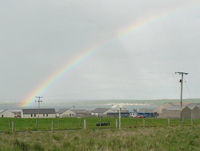 Rainbow over Kirkwall Industrial Estate