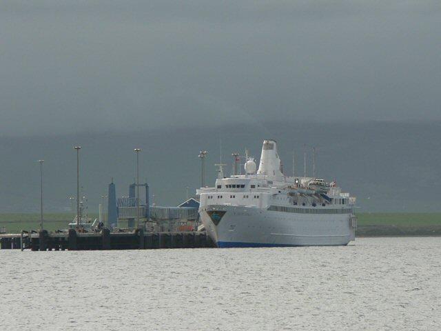 Cruise liner at Kirkwall