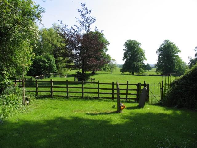 View from Carlton Curlieu churchyard