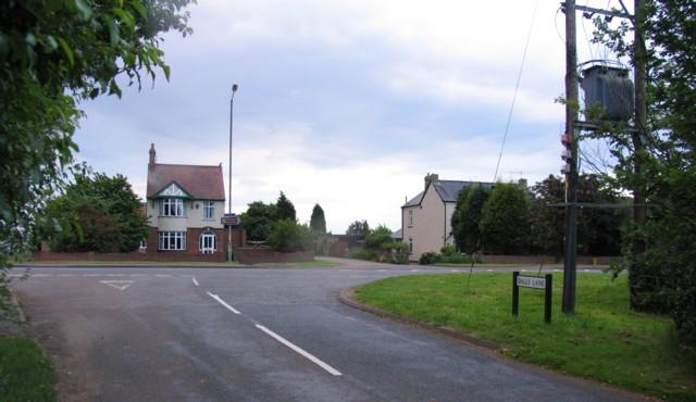 Mills Lane/Bedford Road Junction Willington