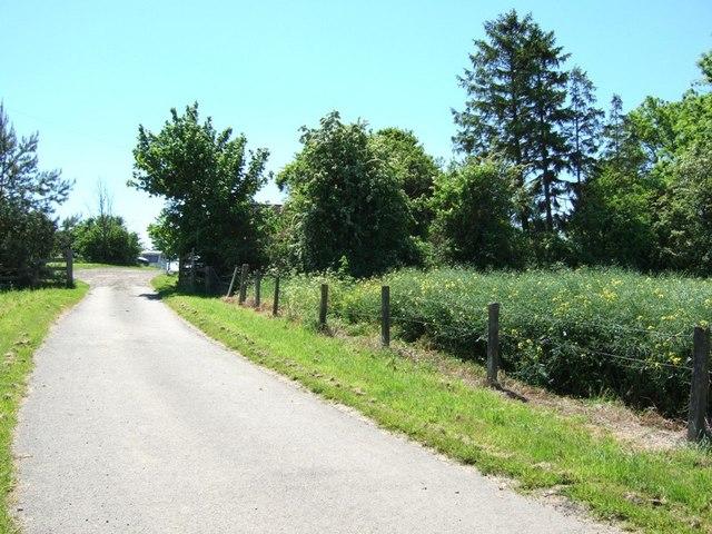 Burston Hill Farm Entrance