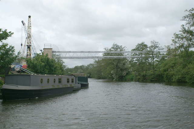 Pipe bridge over the River Avon, Broad Mead