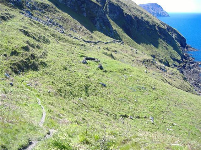 Lag ny Keeilley, West slope of Cronk  ny Arrey Laa