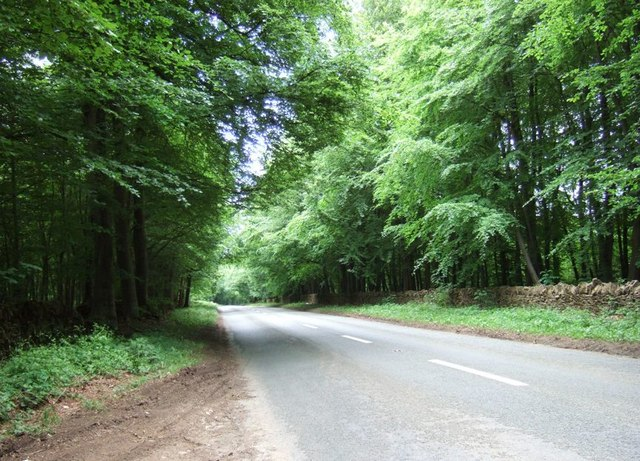 A436 between Adlestrop and Chastleton