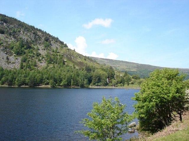 Northern tip of Llyn Geirionydd