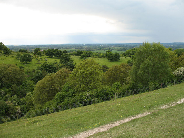 View across Great Kimble Warren