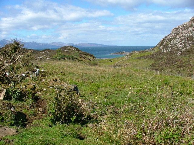 towards the coast