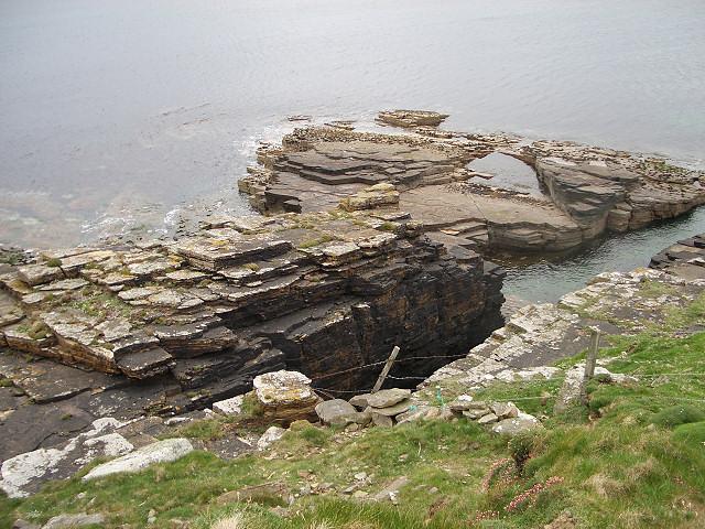 Rocks on the west coast of Westray