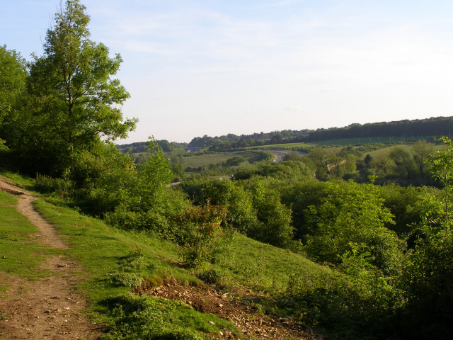 View across the Itchen valley from Twyford Down