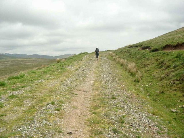 The track to Meall Leathan Dhail
