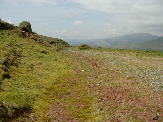 The track below Meall Leathan Dhail