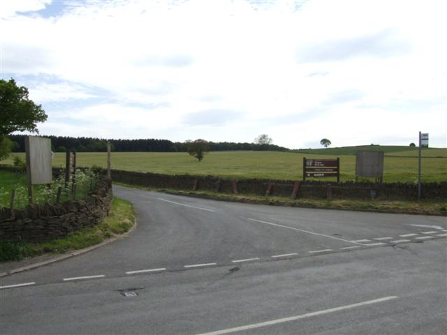 Road leading to Linacre reservoirs from the B6050