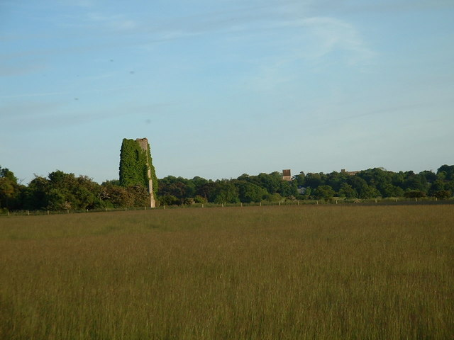 Remains of St Felix's church, West Norfolk.