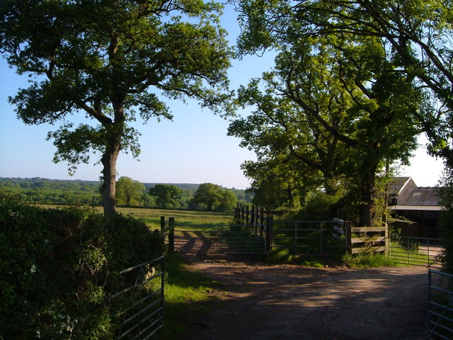 Farmyard entrance off Rockbeare Hill