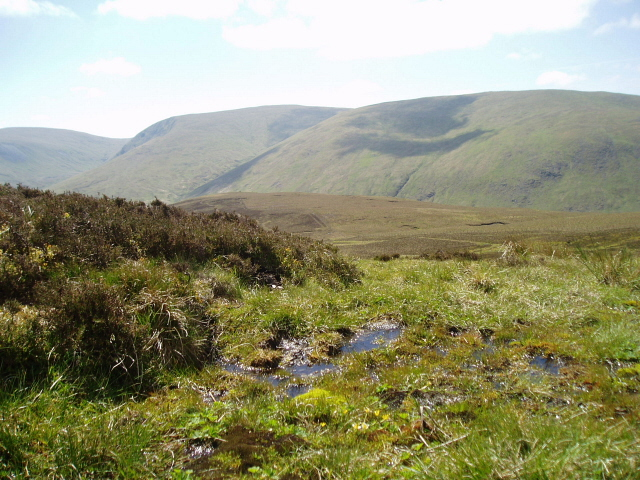 Boggy ground on Cairn Law
