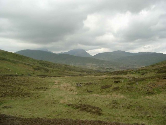 On the bealach between Uamh Bheag and Meall Leathan Dhail