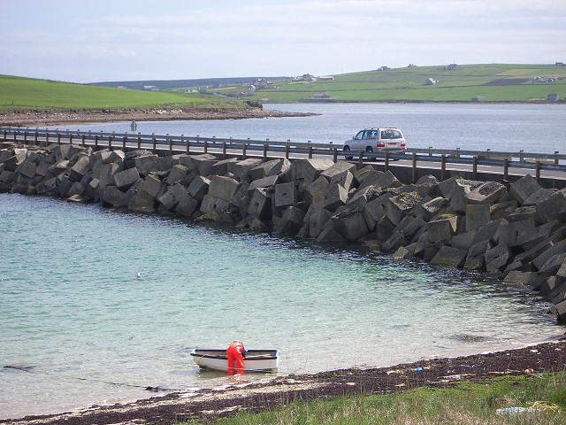 Churchill Barrier no 3, high tide
