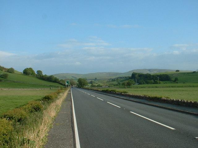 The A5 near Cerrigydrudion
