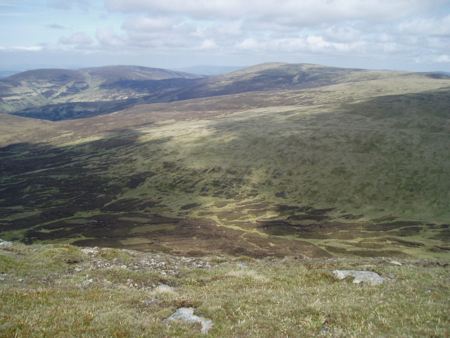 Looking NE from just above Polmood Craig