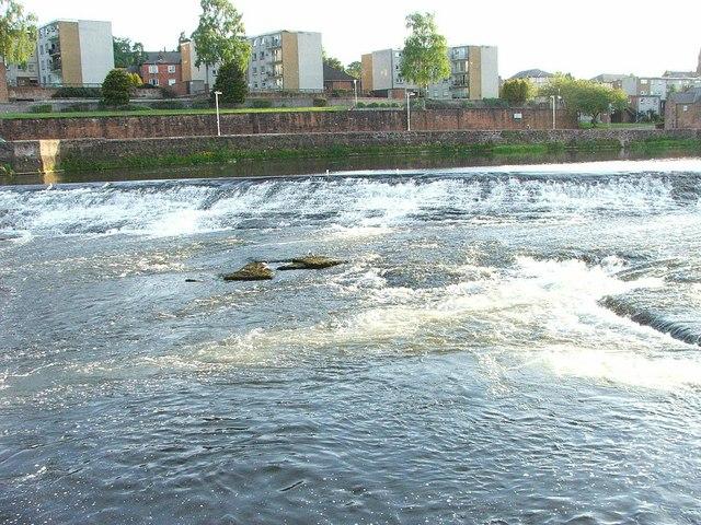 Weir on River Nith