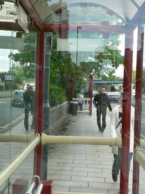 Through the bus stop, Wellington Street, Leeds