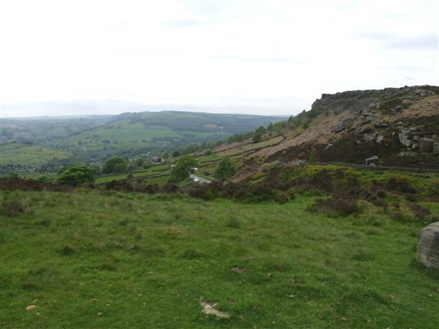 Curbar Edge from the South East