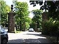 SJ9684 : Entrance to Lyme Park from the A6 by Brian Abbott