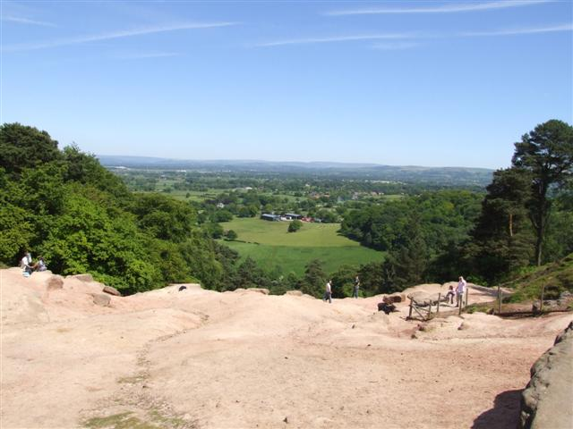 View from Alderley Edge towards the Pennines