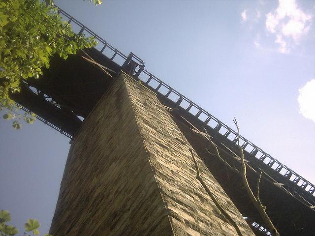 Larkhall Viaduct from footpath below