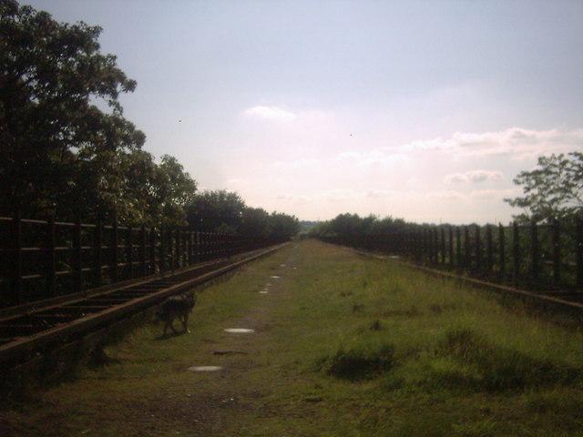 Looking across Larkhall viaduct