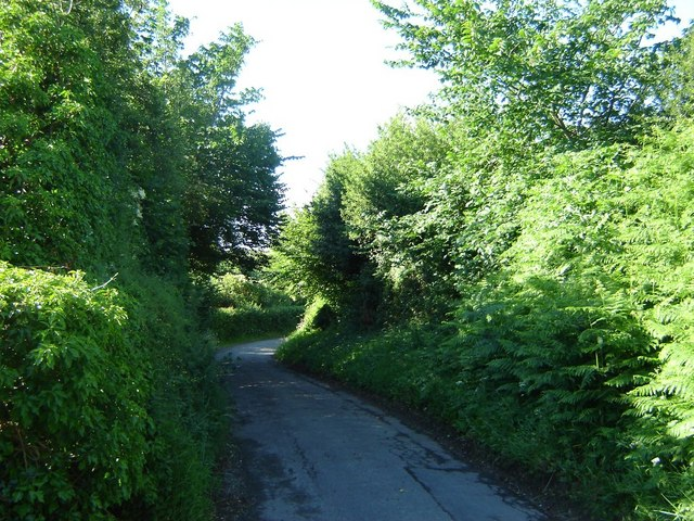 Road along Offa's Dyke