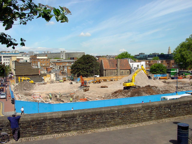 Quakers Friars in the midst of the Redevelopment