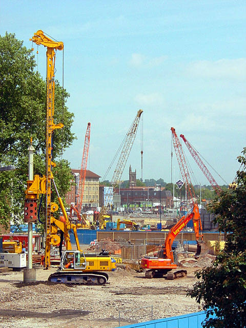 View over the Redevelopment towards the M32