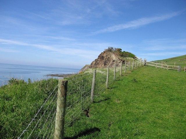 Cliffs south of Ffos Las