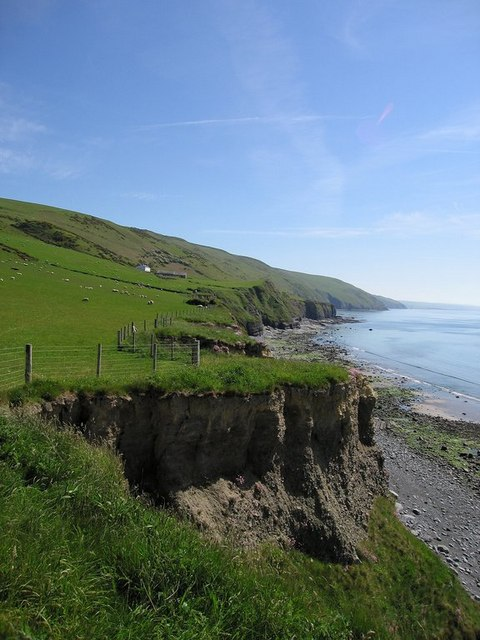 View south along the Cardigan Bay coast
